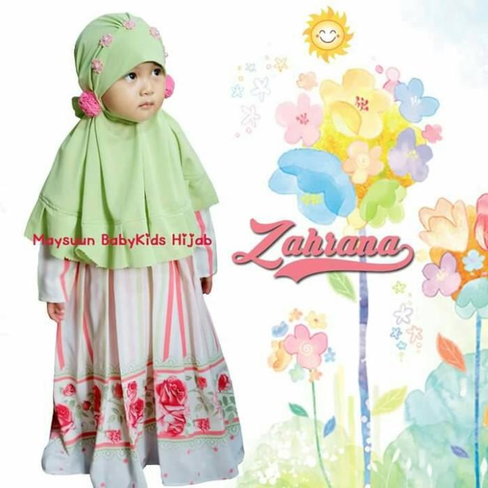 Jual Set Busana Muslim Bayi Anak Set Dress Zahrana Maysuun Gamis