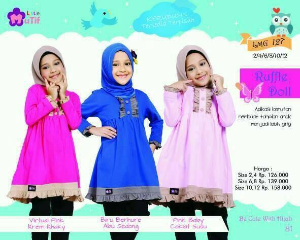 Foto Produk Little Mutif Girl 127 Size 6 dan 8 tahun/Hijab Fashion/Baju Muslim dari Putra Kartini 29
