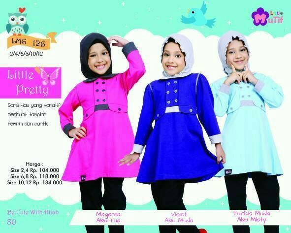 Foto Produk Little Mutif Girl 126 Size 10 dan 12 tahun/Hijab Fashion/Baju Muslim dari Putra Kartini 29