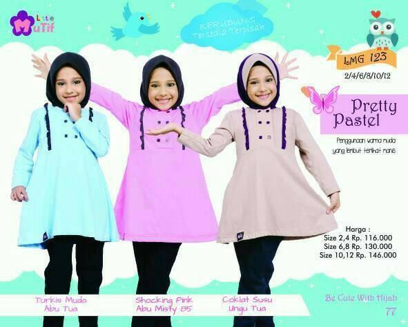 Foto Produk Little Mutif Girl 123 Size 6 dan 8 tahun/Hijab Fashion/Baju Muslim dari Putra Kartini 29