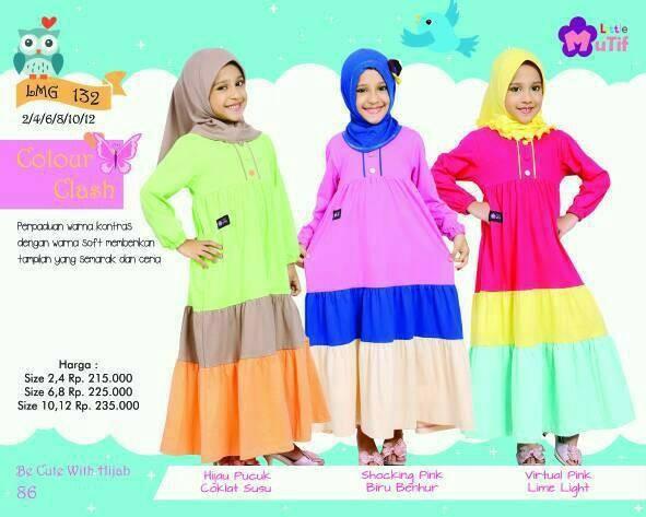 Foto Produk Little Mutif Girl 132 Size 10 dan 12 tahun/Hijab Fashion/Baju Muslim dari Putra Kartini 29