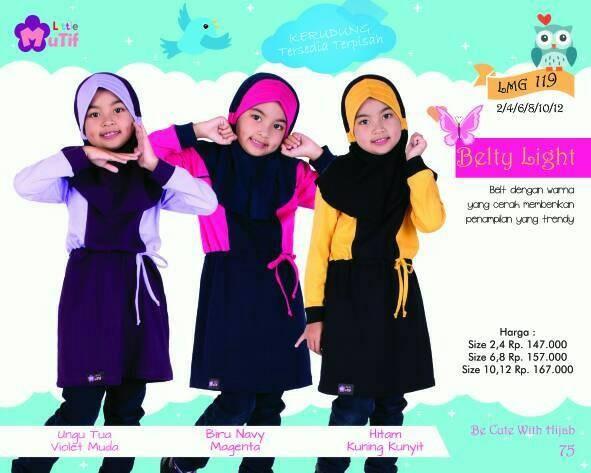 Foto Produk Little Mutif Girl 119 Size 10 dan 12 tahun/Hijab Fashion/Baju Muslim dari Putra Kartini 29