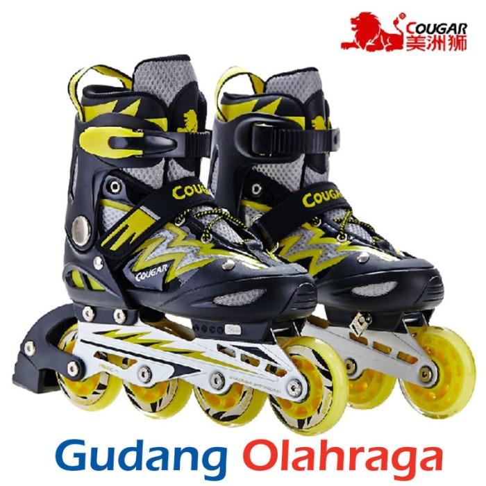 Jual Sepatu Roda COUGAR Inline Skate MZS835L Balck Yellow - Gudang ... 30db169eb5