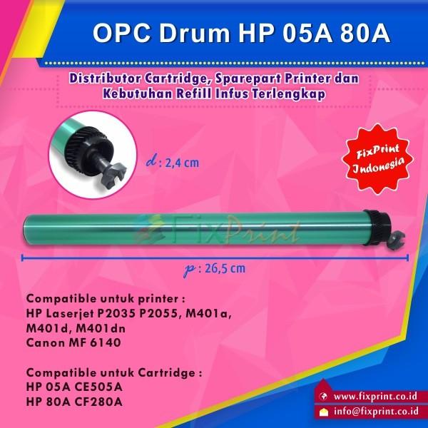 harga Opc drum toner cartridge hp 05a ce505a 80a cf280a hp laserjet p2035 Tokopedia.com