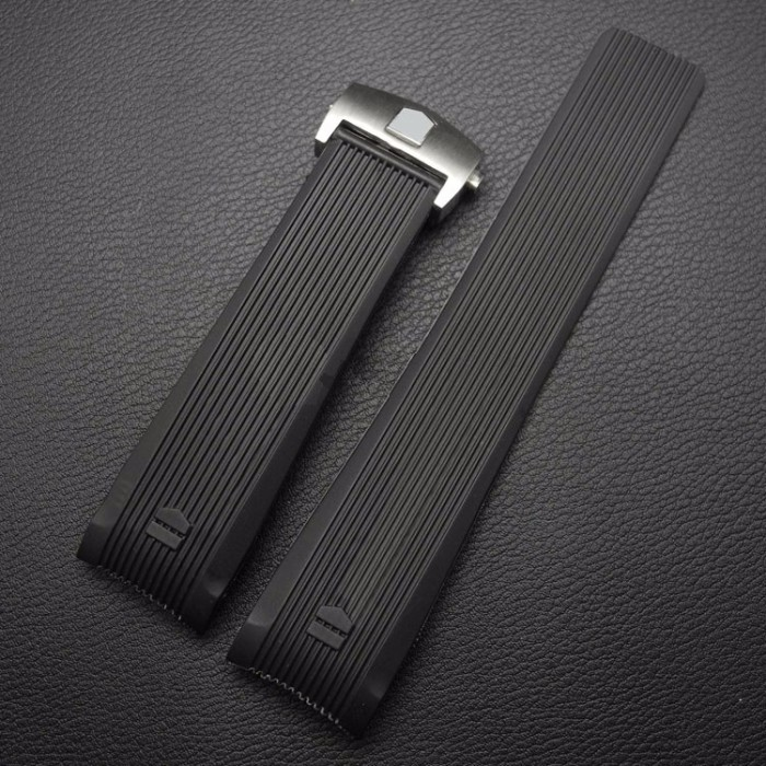harga 24mm silicone rubber curved end watch band strap tag heuer formula 1 Tokopedia.com