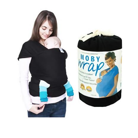 Jual Gendongan Bayi Moby Wrap Black Hitam Gendongan Kangguru Baby