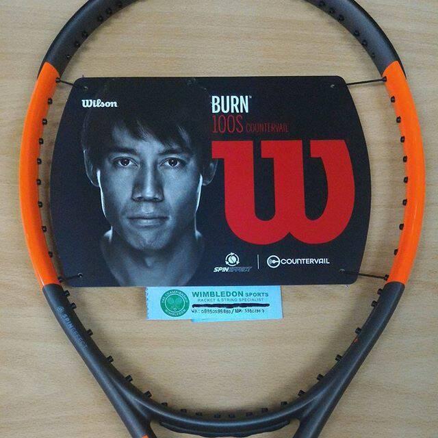 harga Raket tenis wilson burn 100s countervail 2017/ raket wilson burn Tokopedia.com