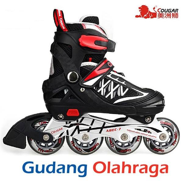 Jual Sepatu Roda (Size L) Inline Skate COUGAR Black - Gudang ... 2d4c780cb4