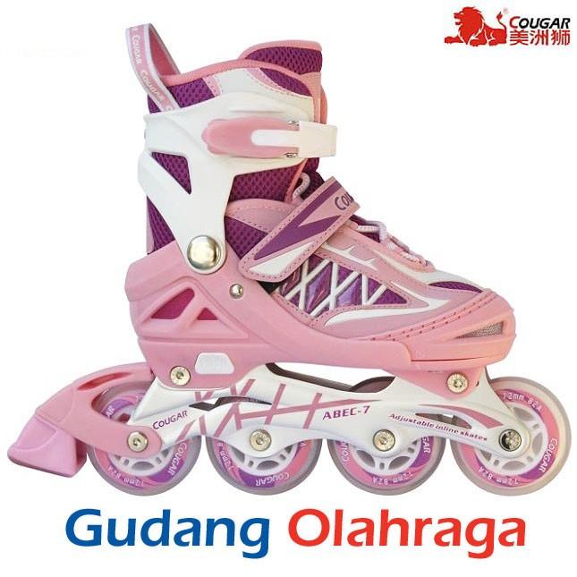 Jual Sepatu Roda (Size M) Inline Skate COUGAR Purple Pink - Gudang ... 7b37c642cc