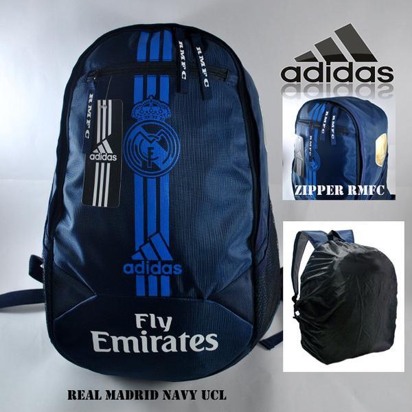 harga Tas ransel klub bola real madrid navy line biru (free raincover) Tokopedia.com
