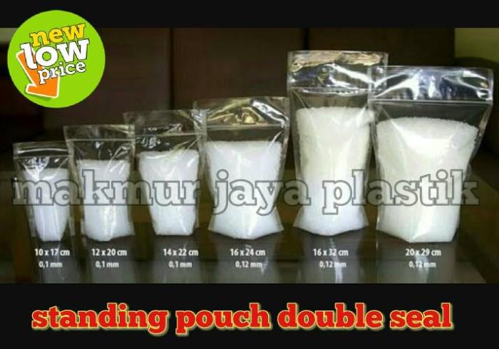 harga Standing pouch double seal pinggir lebar 14 x22 Tokopedia.com