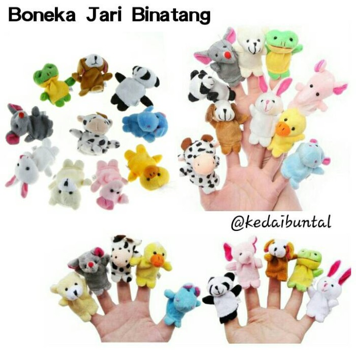 harga Boneka jari seri binatang isi 10pcs Tokopedia.com