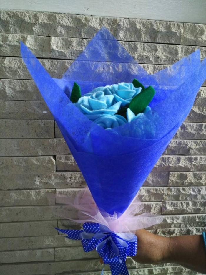 Foto Produk bouquet bunga mawar flanel tangkai buket wisuda ulang tahun aniversary dari florist bouquet
