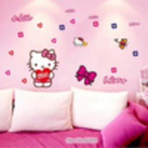 Hello Kitty Cartoon AY7131 - Stiker Dinding / Wall Sticker (50x70)