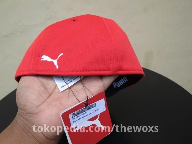 fbe67f345ec ... cheap topi fitted cap sepak bola original puma arsenal fc stretchfit cap  a4414 94b2c
