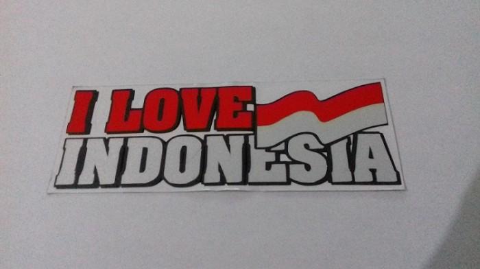 """Stiker Cutting bendera Indonesia """"I love You Indonesia"""" - 2 pcs"""