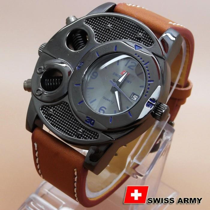 Jual Jual Jam Swiss Army BA625 Coklat Kulit List Biru New - Koleksi ... 11c2ff0d63
