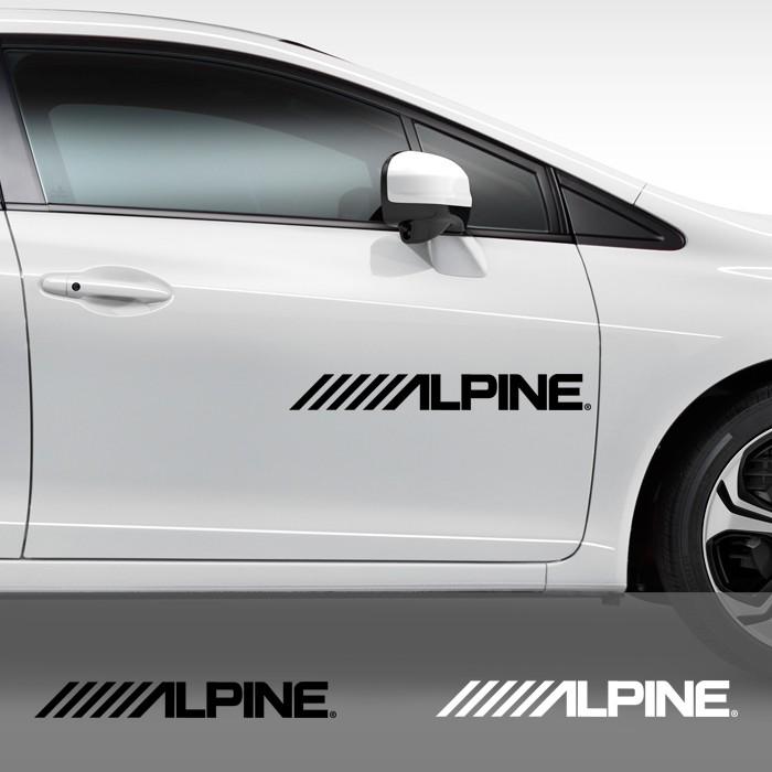 Stiker Alpine Cutting Sticker Pintu Kaca Mobil 60 cm Sound System