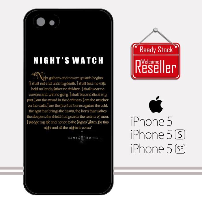 Game of thrones night''s watch design iphone 5 5s se casing premium