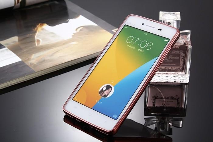 TPU SHINE Vivo V3 / Y53 Case Softcase Chrome Silicone Ultrathin casing