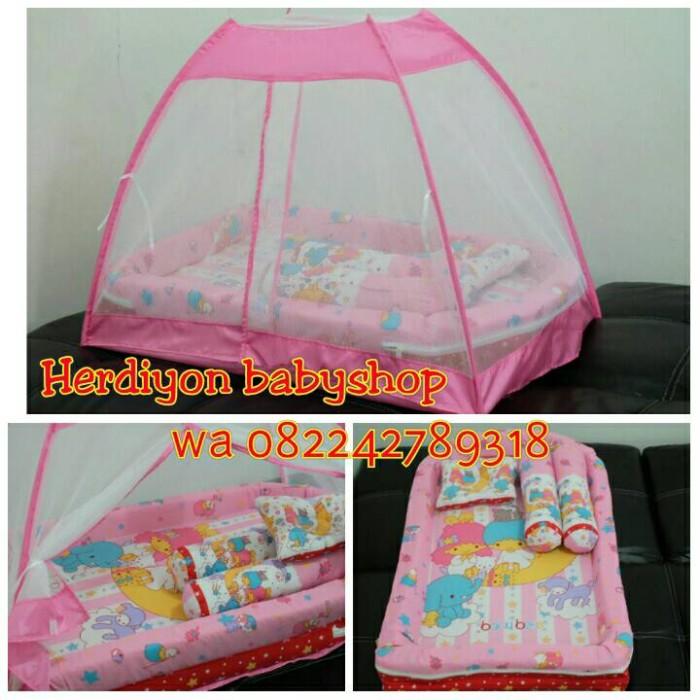 harga Kasur bayi pink tenda kelambu/popok/selimut/kado/ herdiyon babyshop Tokopedia.com
