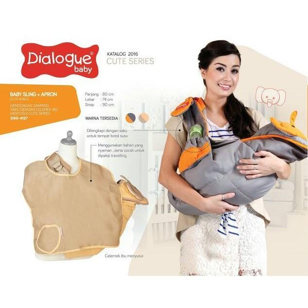 harga Dialogue baby sling/ gendongan bayi samping saku+apron cute dgg4127 Tokopedia.com