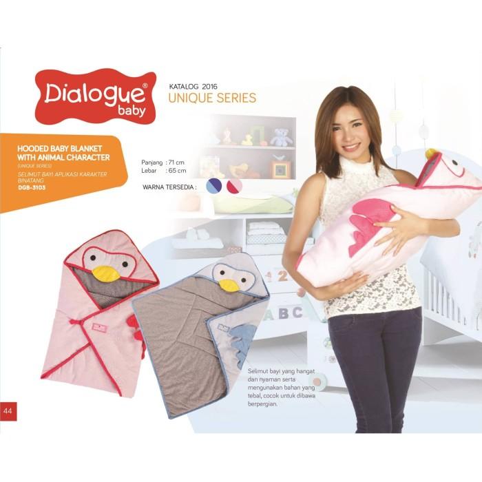 harga Dialogue baby hooded blanket selimut topi bayi aplikasi animal dgb3103 Tokopedia.com