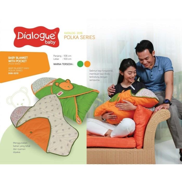 harga Dialogue baby hooded blanket selimut topi saku polka series dgb3213 Tokopedia.com