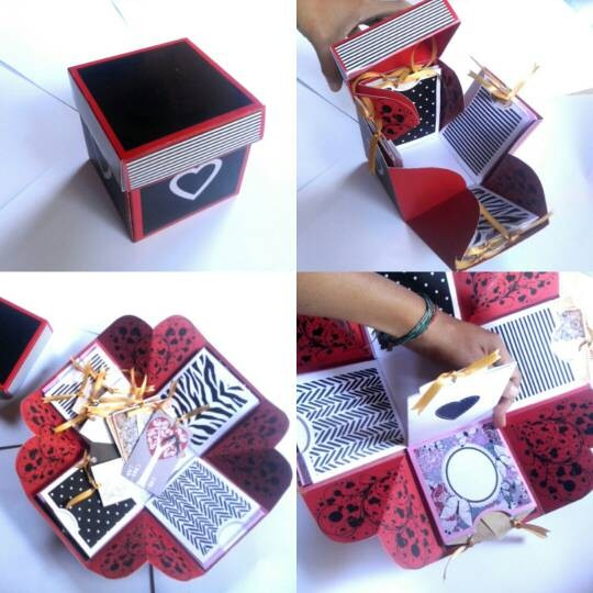 Jual Kotak Kado Unik Craft Box Pop Up Card Kartu Ucapan
