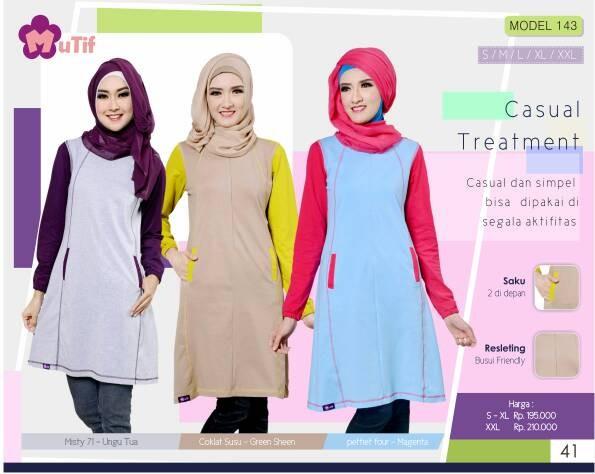 harga Promo !!! baju mutif 143/hijab fashion/syar'i atasan/blouse/tunik Tokopedia.com