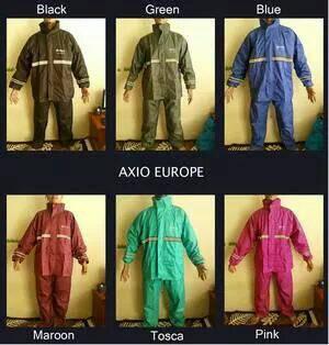 jas hujan axio europe 100% ORI khusus hitam berat abnormal ...