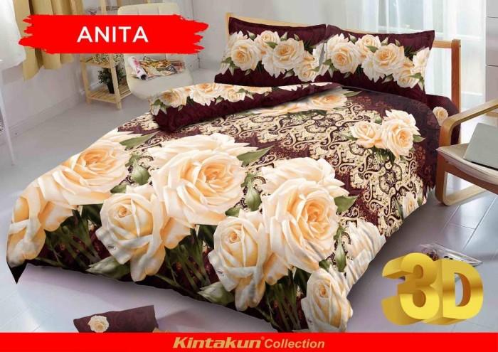 Bedcover D'luxe Kintakun ukuran 180 x 200 - Anita
