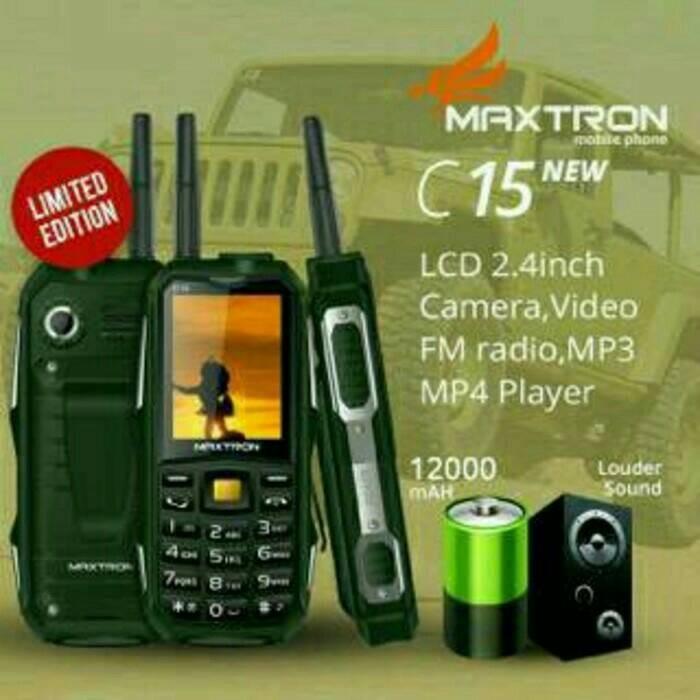 harga Maxtron c15 c-15 rival pc9000 b81 batre 12000 mah 2 sim card outdoor Tokopedia.com