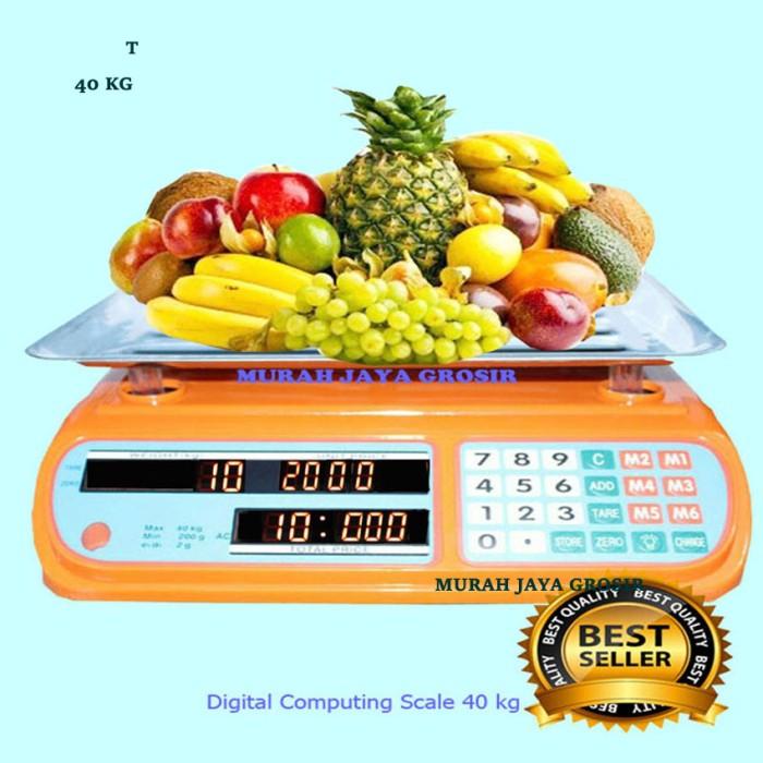 harga Timbangan laundry / buah / timbangan duduk / digit computing scale 40k Tokopedia.com