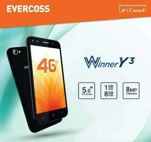 harga Evercoss b75a winner y3 4g/5  inch/ram 1gb Tokopedia.com