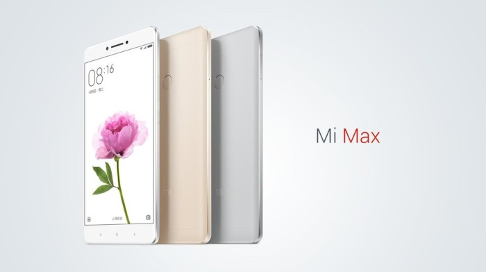 Xiaomi mi max ram 3gb internal 32gb garansi distributor 1 tahun
