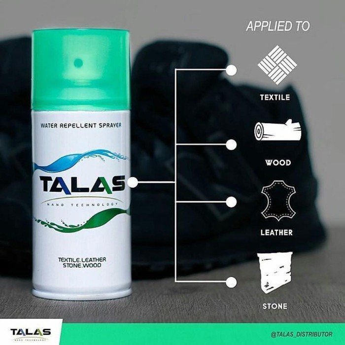 Talas Waterproof / Water Repellent Spray Anti Air Dan Noda