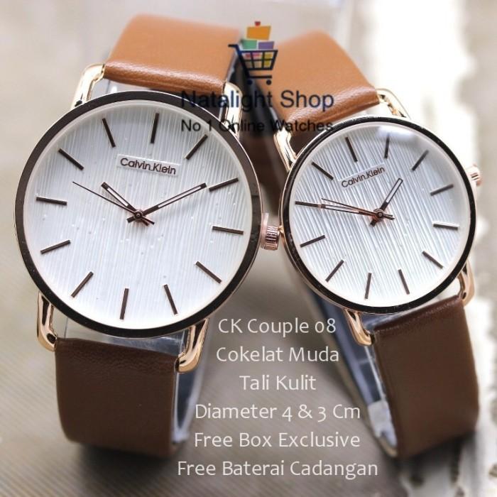 harga Jam tangan couple ck couple 08 kulit super elegan mewah Tokopedia.com
