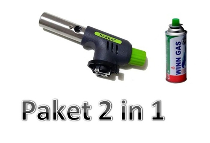 Paket 2 in 1 Gas torch NANKAI + Tabung gas kaleng .