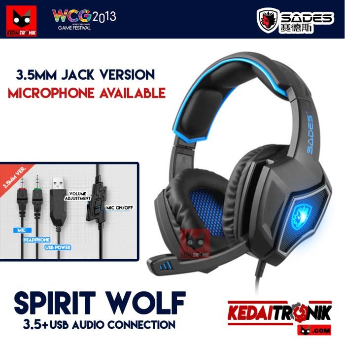 harga Sades spirit wolf jack 3.5+usb microphone headphone gaming headset Tokopedia.com
