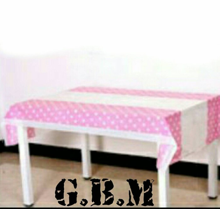 Taplak Meja Pink Soft Polkadot / Table Cover Pink Soft Polkadot