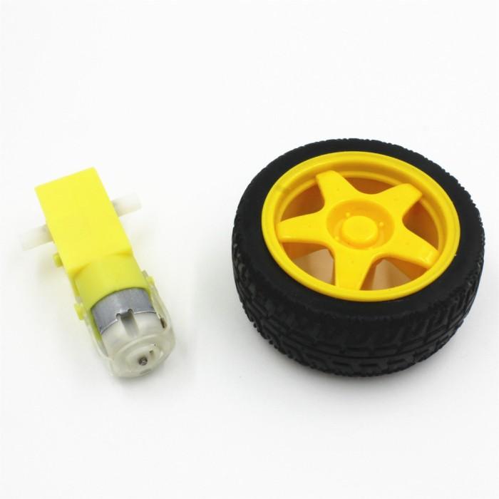 harga Motor dc gearbox 3v - 6v roda smart car balancing kuning robot t0155 Tokopedia.com