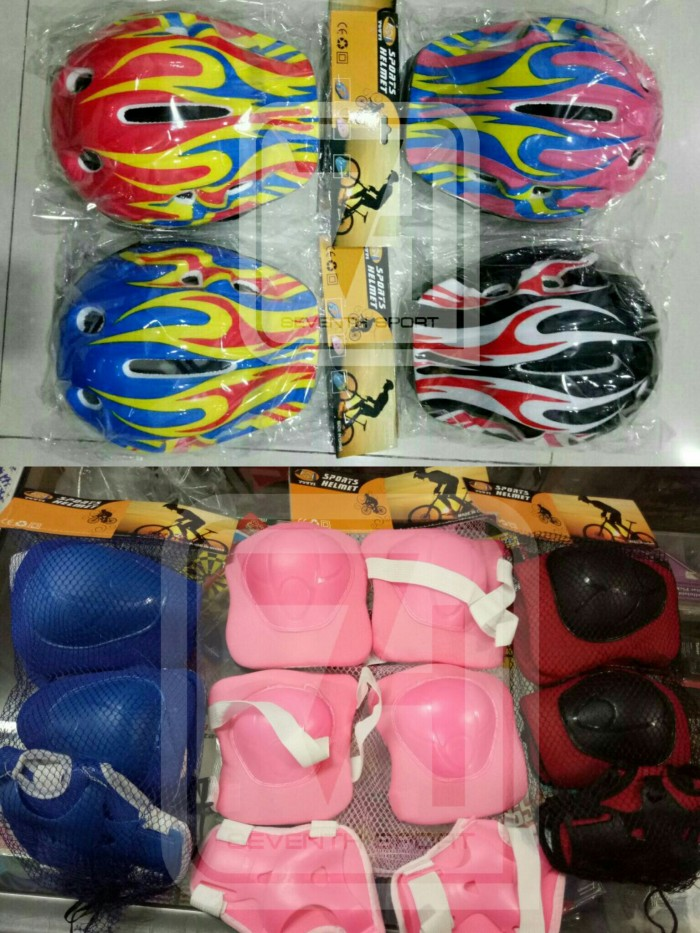 harga (ukuran besar) helm dan deker pengaman sepatu roda anak Tokopedia.com