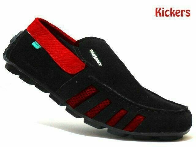 Sepatu Casual Pria Kickers Slop Slip On Pria Kulit Suede Halus 04