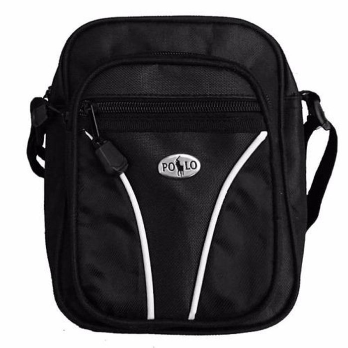 [BUNDLE] A-KALIBER SHOULDER BAG - HITAM + MINI POLO POUCH