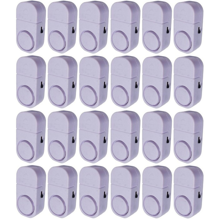 Paket 24 Buah Alarm Pintu Anti Maling Kecil - Putih (Door entry