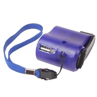 Promo Murah Charger Smarphone Tenaga Kinektik - Blue