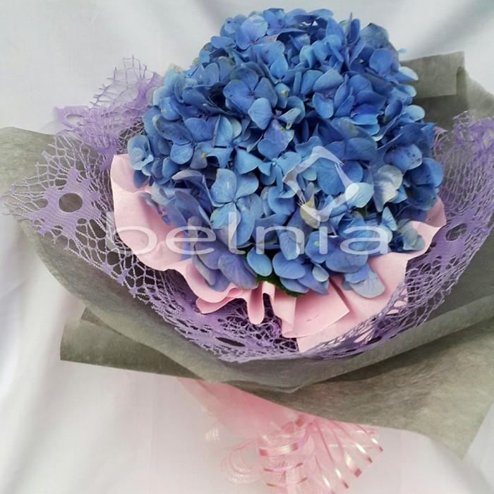 Hand Bouquet Fresh Flower Buket Bunga Asli Lovely Blue Hydrangea 039b9b03f0