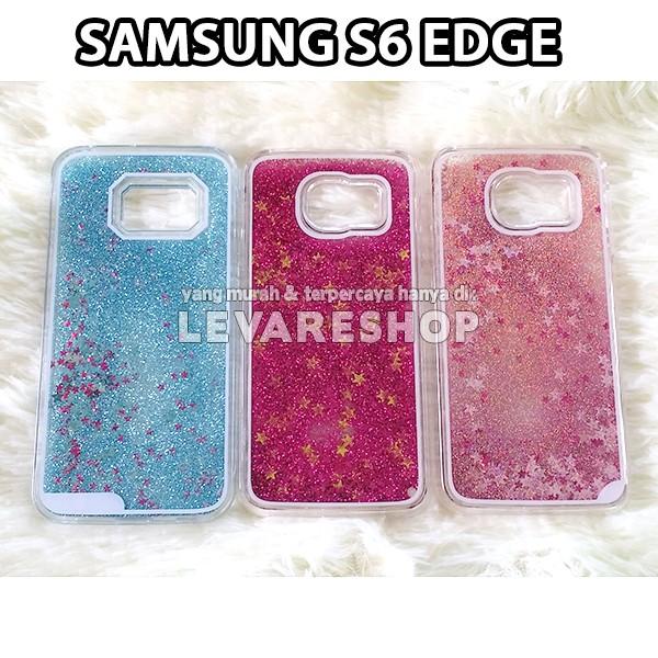harga Sand glitter + star + liquid case samsung galaxy s6 edge - hardcase Tokopedia.com