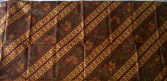 ... harga Kain batik cap kombinasi tulis tolet bahan batik bunga parang  sogan Tokopedia.com a655f6b788